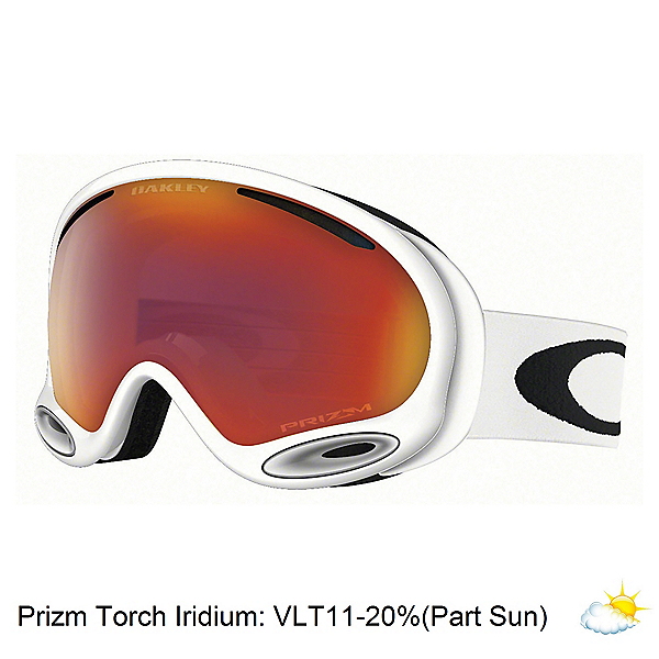 Oakley A Frame 2.0 Prizm Goggles 2018, Polished White-Prizm Torch Iri, 600
