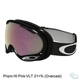 Oakley A Frame 2.0 Prizm Goggles 2017, Jet Black-Prizm Hi Pink Iridiu, 256