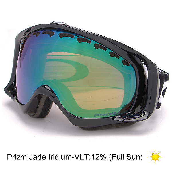 oakley rasta goggles rnyb  Oakley Crowbar Prizm Goggles 2017, Jet Black-Prizm Jade Iridium, 256