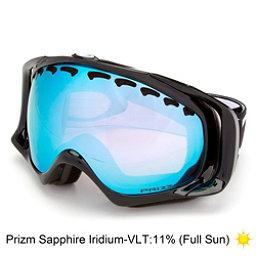 Oakley Crowbar Prizm Goggles, Jet Black-Prizm Sapphire Iridi, 256