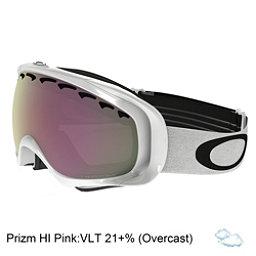Oakley Crowbar Prizm Goggles, Polished White-Prizm Hi Pink, 256