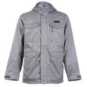 Burton Covert Mens Insulated Snowboard Jacket, Heather Bog, medium