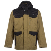 Burton Covert Mens Insulated Snowboard Jacket, Hickory-True Black, medium