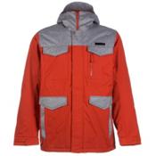 Burton Covert Mens Insulated Snowboard Jacket, Campfire-Heather Bog, medium