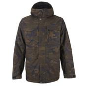 Burton Covert Mens Insulated Snowboard Jacket, Lowland Camo, medium