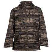 Burton Warren Mens Shell Snowboard Jacket, Camo Tie Dye Stripe, medium
