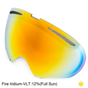 Oakley A Frame 2.0 Goggle Replacement Lens, Fire Iridium, medium