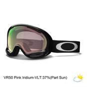 Oakley A Frame 2.0 Alt Fit Goggles, Jet Black-Vr50 Pink Iridium, medium