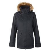 Burton TWC Wanderlust w/Faux Fur Womens Insulated Snowboard Jacket, True Black, medium