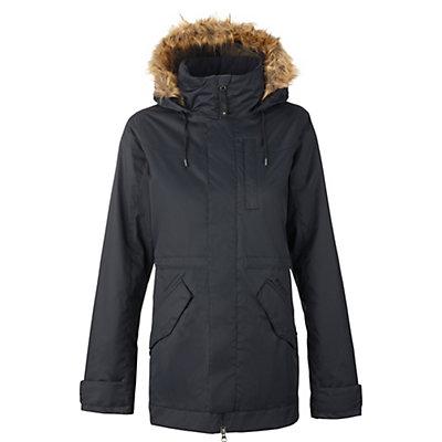 Burton TWC Wanderlust w/Faux Fur Womens Insulated Snowboard Jacket, Stout White Snow Leopard Print, viewer