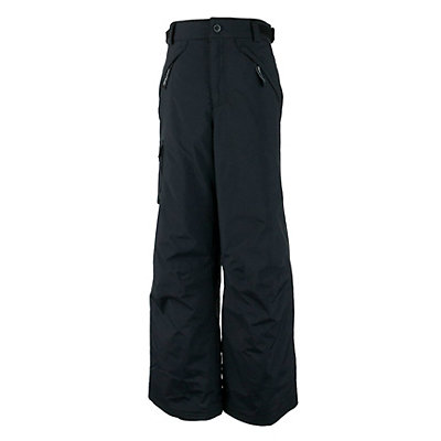 Obermeyer Carve Cargo Teen Boys Ski Pants, Black, viewer