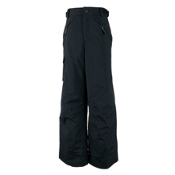 Obermeyer Carve Cargo Husky Teen Boys Ski Pants Kids Ski Pants, Black, medium