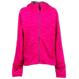 Obermeyer Stevie Fleece Teen Girls Hoodie, Knockout Pink, 256