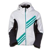 Obermeyer Nateal Girls Ski Jacket, White, medium