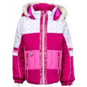 Obermeyer Lush Fur Toddler Girls Ski Jacket, Wild Berry, medium