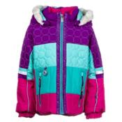 Obermeyer Lush Fur Toddler Girls Ski Jacket, Iris Purple, medium