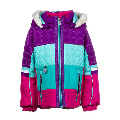 Obermeyer Lush Fur Toddler Girls Ski Jacket, Black, viewer