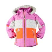 Obermeyer Lush Fur Toddler Girls Ski Jacket, Neo Pink, medium