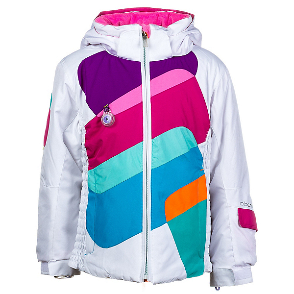 Obermeyer Prism Toddler Girls Ski Jacket, White, 600