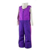 Obermeyer Warm Up Bib Toddler Girls Ski Pants, Iris Purple, medium