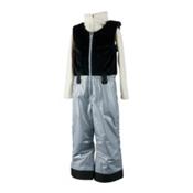 Obermeyer Warm Up Bib Toddler Girls Ski Pants, Phantom Sparkle, medium
