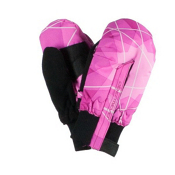 Obermeyer Thumbs Up Mitten Toddlers Mittens, Pink Nebula Print, medium