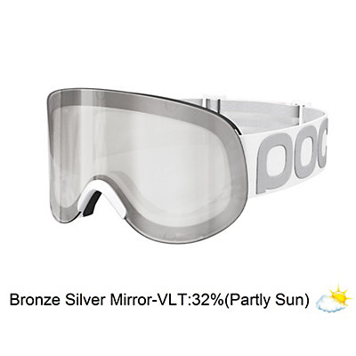 POC Lid Goggles, Hydrogen White-Bronze Silver Mirror, viewer