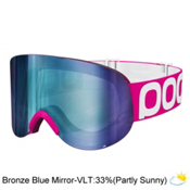 POC Lid Goggles, Fluorescent Pink-Bronze Blue M, medium