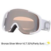 POC Cornea Goggles, Hydrogen White-Bronze Silver Mirror, medium