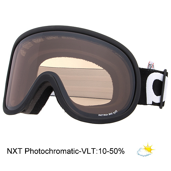 POC Retina Big NXT Goggles, Uranium Black-Nxt Photochromatic, 600