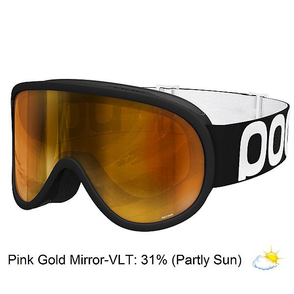 POC Retina Goggles, Uranium Black-Pink Gold Mirror, 600