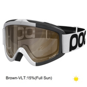 POC Iris Comp Large Goggles, Hydrogen White-Brown Clear + Bonus Lens, medium