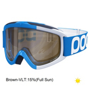 POC Iris Comp Large Goggles, Terbium Blue-Brown Clear + Bonus Lens, medium