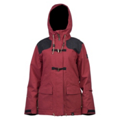 Cappel Thunder Womens Insulated Snowboard Jacket, Rusty Rose Tweed, medium
