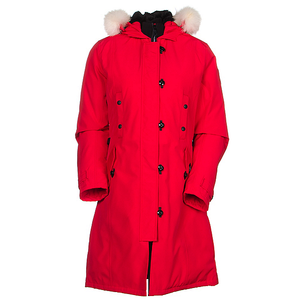Canada Goose Kensington Parka Womens Jacket, Red, 600