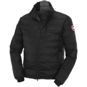 Canada Goose Lodge Down Mens Jacket, Black-Graphite, medium