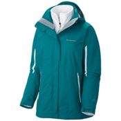 Columbia Bugaboo Interchange Womens Insulated Ski Jacket, Emerald-White, medium