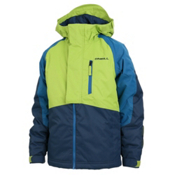 O'Neill Hawking Boys Snowboard Jacket, Macaw Green, medium