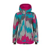 O'Neill Sketch Womens Insulated Snowboard Jacket, Pink Aop, medium
