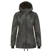 O'Neill Sketch Womens Insulated Snowboard Jacket, Black Aop, medium