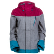 O'Neill Coral Womens Insulated Snowboard Jacket, Silver Melee, medium