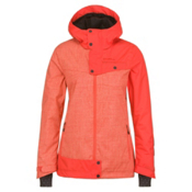 O'Neill Line Up Womens Insulated Snowboard Jacket, Poppy Red, medium