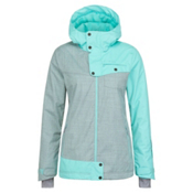 O'Neill Line Up Womens Insulated Snowboard Jacket, Aqua Sky, medium
