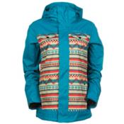 O'Neill Peridot Womens Insulated Snowboard Jacket, Beige Aop-Pink, medium