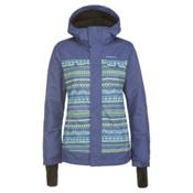 O'Neill Peridot Womens Insulated Snowboard Jacket, Grey Aop-Yellow, medium