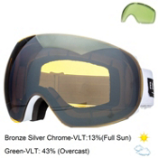 Electric EG3 Goggles 2015, Gloss White-Bronze Silver Chrome, medium