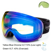 Electric EG3 Goggles 2015, Gloss Black-Yellow Blue Chrome + Bonus Lens, medium