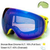 Electric EG3 Goggles, Nukus-Bronze Blue Chrome + Bonus Lens, medium