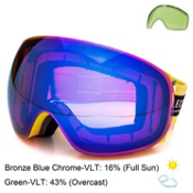 Electric EG3 Goggles, Biohazard-Bronze Blue Chrome + Bonus Lens, medium