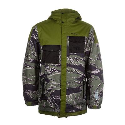 O'Neill Newschoolers Mens Insulated Snowboard Jacket, Green Aop, viewer